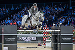 Philipp Weishaupt of Germany riding Solitaer competes during the Longines Grand Prix, part of the Longines Masters of Hong Kong on 12 February 2017 at the Asia World Expo in Hong Kong, China. Photo by Marcio Rodrigo Machado / Power Sport Images