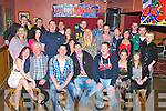 BIRTHDAY ON THE TRIBBLE: Triplets Barry, Michael and Jonathan Leen, Ardfert (seated centre) enjoying a great time celebrating their 30th birthdays with family and friends at McElligott's bar, Ardfert on Saturday...