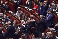 Roma, 31 Gennaio 2015<br /> Luca Lotti<br /> Camera dei Deputati.<br /> Alla quarta votazione viene eletto Sergio Mattarella a Presidente della Repubblica. <br /> Gli scranni del centro sinistra