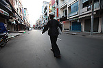 Known for its nightlife, Bui Vien Street in Ho Chi Minh City, Vietnam is practically deserted by dawn. Aug. 18, 2011.