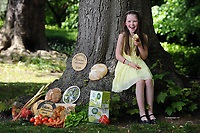 26-5-2015: REPRO   PHOTO:  Roisin Canning, (9) whose parents Bernie and Graham of Blast and Wilde, Slane County Meath were Supreme Champions for their butter in 2014 pictured at the launch of the Blas na h-Eireann / Irish Food Awards which will take place in Dingle in October. <br /> The Irish Food Awards will see more than 2,000 Irish products blind tasted and scored by over 350 judges who will select the Gold, Silver and Bronze winners in over 90 produce categories. Online entries close on 17th June 2015 and can be completed on www.irishfoodawards.com.<br /> Photo by Don MacMonagle<br /> <br /> Press release:<br /> Over 90% of Irish Food Producers Experiencing Growth<br /> - but cash flow and financial support among major <br /> <br /> A new survey of more than 2,000 Irish food producers across the island of Ireland shows that while they are experiencing substantial growth, issues such as 'cash flow', 'distribution' and 'access to financial advice' are major challenges, particularly for producers ready to develop into national and international markets. These survey results were announced at the launch of the 8th annual Blas na hEireann, The Irish Food Awards by the Minister for Agriculture, Food and the Marine, Simon Coveney on Tuesday 26th May 2015. This year's Irish Food Awards will see more than 2,000 Irish products blind tasted and scored by over 350 judges who will select the Gold, Silver and Bronze winners in over 90 produce categories. The Awards carry with them a huge amount of prestige and winning produce is used as a quality benchmark for Irish products amongst national and international retailers, buyers and distributors alike.  Online entries close on 17th June 2015 and can be completed on www.irishfoodawards.com.  The 'Producer Power Survey' showed that over 90% of producers across the island have seen their operations grow in the past year and a massive 95% feel confident that their businesses will continue to flourish throughout 2015.  Furthermore the vast majority of producers have said that go