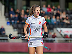 AMSTELVEEN - Laura Nunnink (OR)   tijdens de hoofdklasse hockeywedstrijd dames,  Amsterdam-Oranje Rood (2-2) .   COPYRIGHT KOEN SUYK