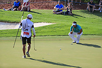 Kiradech Aphibarnrat (THA) on the 15th during the final round of the DP World Tour Championship, Jumeirah Golf Estates, Dubai, United Arab Emirates. 19/11/2017<br /> Picture: Golffile | Fran Caffrey<br /> <br /> <br /> All photo usage must carry mandatory copyright credit (© Golffile | Fran Caffrey)