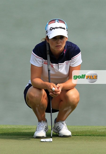 Beatriz Recari (ESP) on the 4th green during Round 1 of the HSBC Women's Champions at the Sentosa Golf Club, The Serapng Course in Singapore on Thursday 5th March 2015.<br /> Picture:  Thos Caffrey / www.golffile.ie