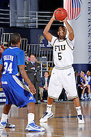 25 February 2010:  FIU's Martavis Kee (5) handles the ball in the second half as the Middle Tennessee Blue Raiders defeated the FIU Golden Panthers, 74-71, at the U.S. Century Bank Arena in Miami, Florida.