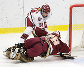 Anna McDonald (Harvard - 10), Corinne Boyles (BC - 29) - The Harvard University Crimson defeated the Boston College Eagles 5-0 in their Beanpot semi-final game on Tuesday, February 2, 2010 at the Bright Hockey Center in Cambridge, Massachusetts.