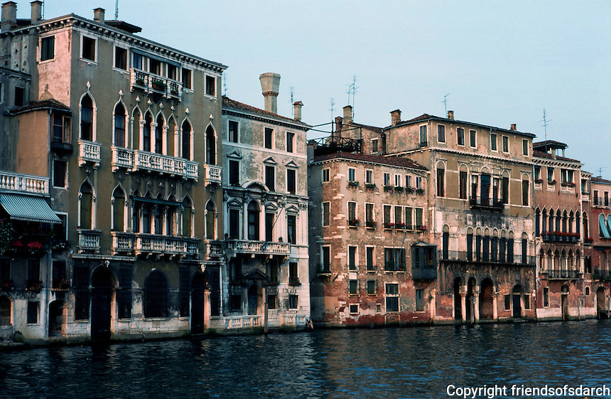 Venice:  #2.  Grand Canal in evening light.  Photo '83.
