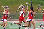 Redondo Beach, CA 05/14/11 - Brittany Ross (Redondo Union #29), Torrey Bailey (Los Alamitos #4) and Sophia Aragon (Los Alamitos #21)in action during the 2011 US Lacrosse / CIF Southern Section Division 1 Girls Varsity Lacrosse Championship, Los Alamitos defeated Redondo Union 17-5.