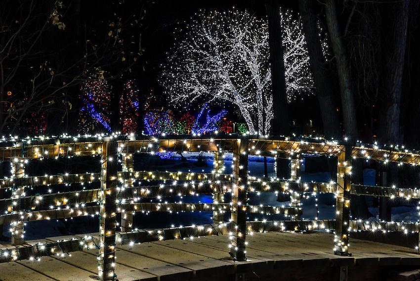 A Hudson Christmas (holiday light show at Hudson Gardens), Littleton, Colorado USA.