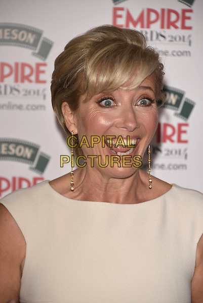 LONDON, ENGLAND - MARCH 30: Emma Thompson attends the Jameson Empire Film Awards at Grosvenor House on March 30, 2014 in London, England.<br /> CAP/PL<br /> &copy;Phil Loftus/Capital Pictures