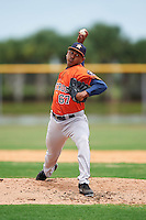 GCL Astros relief pitcher Saul Martinez (67) during a game against the GCL Nationals on August 14, 2016 at the Carl Barger Baseball Complex in Viera, Florida.  GCL Nationals defeated GCL Astros 8-6.  (Mike Janes/Four Seam Images)