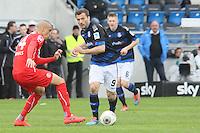 Edmond Kapllani (FSV) gegen Bruno Soares (Fortuna) - FSV Frankfurt vs. Fortuna Düsseldorf, Frankfurter Volksbank Stadion