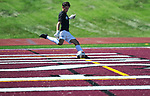 Francis Howell Central goalkeeper Connor McGoogan kicks the ball. DeSmet defeated Francis Howell Central 2-1 on Saturday September 14, 2019.<br /> Tim Vizer/Special to STLhighschoolsports.com