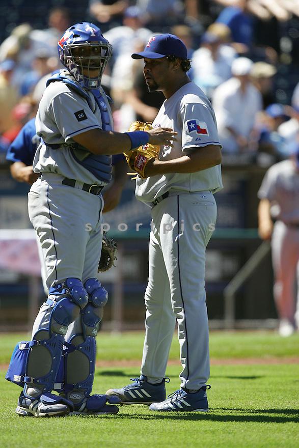 Francisco Cordero, of the Texas Rangers , in action against the Kansas City Royals on June 5, 2005...Rangers win 8-1...Dilip Vishwanat / SportPics