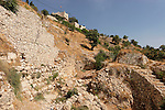 Jerusalem, Israel, The City of David, stepped-stone retaining walls in the area of Jebus<br />