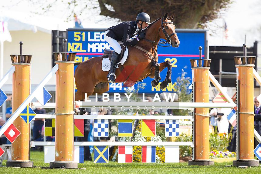 NZL-Sir Mark Todd (LEONIDAS II) FINAL-4TH: SHOWJUMPING: 2016 GBR-Mitsubishi Motors Badminton Horse Trials CCI4* (Sunday 8 May) CREDIT: Libby Law COPYRIGHT: LIBBY LAW PHOTOGRAPHY