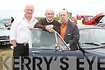 VINTAGE: Tim Lynch (Ballybunion) Frank Gleasure and Rex Jones (Tralee) who engtered their Damiler Soverine in the Vintage Car Rally in Blast from the Past in Ballybunion on Sunday......................................................................................... ........