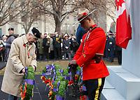 Jour du souvenir 11 novembre 2015<br /> <br /> PHOTO :   Agence Quebec Presse