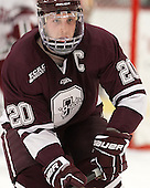 Jeremy Price (Colgate - 20) - The Harvard University Crimson defeated the Colgate University Raiders 4-1 (EN) on Friday, February 15, 2013, at the Bright Hockey Center in Cambridge, Massachusetts.
