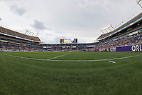 Orlando, FL - Sunday July 10, 2016: Camping World Stadium during a regular season National Women's Soccer League (NWSL) match between the Orlando Pride and the Boston Breakers at Camping World Stadium.