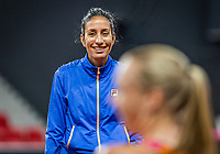 The Hague, The Netherlands, Februari 4, 2020,  Sportcampus , FedCup  Netherlands - Balarus, Dutch team practise, coach of Kiki Bertens: Elise Tamaela.<br /> Photo: Tennisimages/Henk Koster