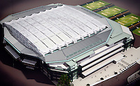 27-6-07,England, Wimbldon, Tennis, Volgend jaar gedeeltelijk klaar het verschuifbare dak