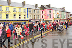 The Listowel Santa parade in the Square on Sunday.
