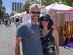 Josh and Jenny during Art Fest on Saturday June 30, 2018 in downtown Reno.