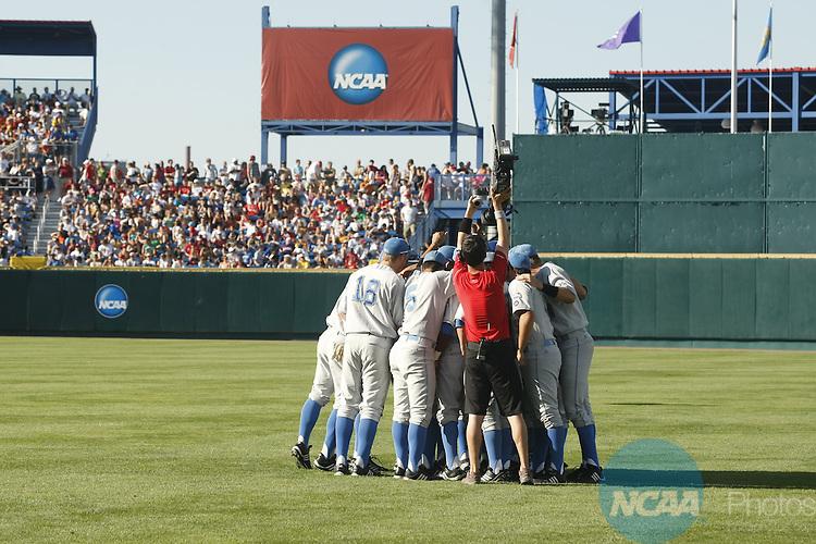 29 JUNE 2010:  UCLA takes on the University of South Carolina during the Division I Men's Baseball Championship held at Rosenblatt Stadium in Omaha, NE.  Jamie Schwaberow/NCAA Photos
