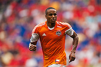 Ricardo Clark (13) of the Houston Dynamo. The New York Red Bulls defeated the Houston Dynamo 2-0 during a Major League Soccer (MLS) match at Red Bull Arena in Harrison, NJ, on June 30, 2013.