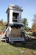 Center Meeting House undergoing major repairs..Located in Newbury, New Hampshire  USA  ..