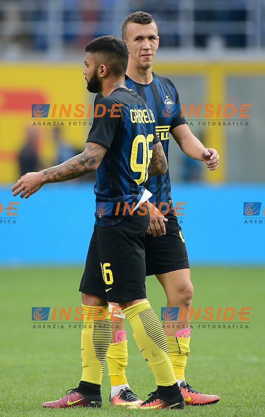 Ivan Perisic e Gabriel Barbosa Gabigol Inter<br /> Milano 25-09-2016 Stadio Giuseppe Meazza - Football Calcio Serie A Inter - Bologna. Foto Giuseppe Celeste / Insidefoto