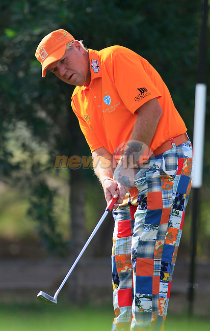 John Daly (USA) in action during the third round of .the Commercialbank Qatar Masters presented by Dolphin Energy played at Doha Golf Club, Doha, Qatar on 5th February 2011..Picture: Phil Inglis / www.golffile.ie.