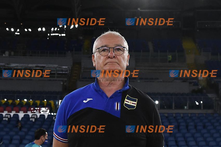 Claudio Ranieri, Sampdoria coach,<br /> during the Serie A football match between AS Roma and UC Sampdoria at Olimpico stadium in Rome ( Italy ), June 24th, 2020. Play resumes behind closed doors following the outbreak of the coronavirus disease. <br /> Photo Andrea Staccioli / Insidefoto