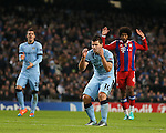 Dejection for Sergio Aguero of Manchester City after missing a chance to score as the clock ticks down - UEFA Champions League group E - Manchester City vs Bayern Munich - Etihad Stadium - Manchester - England - 25rd November 2014  - Picture Simon Bellis/Sportimage