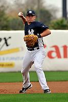 Feb 24, 2010; Tampa, FL, USA; New York Yankees  infielder Brandon Laird (97) during  team workout at George M. Steinbrenner Field. Mandatory Credit: Tomasso De Rosa/Four Seam Images