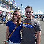 Jaclyn McBade and Daniel Rucker, from Reno, at the Air Races at the Reno-Stead Airfield on Sunday, Sept. 20, 2015.