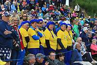 Support for Team Europe on the 9th fairway during Day 1 Fourball at the Solheim Cup 2019, Gleneagles Golf CLub, Auchterarder, Perthshire, Scotland. 13/09/2019.<br /> Picture Thos Caffrey / Golffile.ie<br /> <br /> All photo usage must carry mandatory copyright credit (© Golffile | Thos Caffrey)