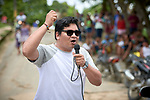 Eliesio Marubo, an indigenous lawyer and adviser to indigenous members of the local town council, speaks during a protest by indigenous people in Atalaia do Norte in Brazil's Amazon region on March 27, 2019. They were protesting a central government plan to turn control of health care over to municipalities, in effect destroying a federal program of indigenous health care. Indian rights activists are worried that the government of President Jair Bolsonaro is reducing or eliminating protections for the country's indigenous people.