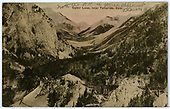 An east-facing panoramic view of the RGS Ophir Loop and upper Ophir showing bridges 46-C, 46-D &amp; 46-E.<br /> RGS  Ophir Loop, CO  Taken by Byers, Joseph E. - ca 1895