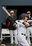February 22, 2013: Nevada Wolf Pack infielder Scott Kaplan hits a triple against the Northern Illinois Huskies during their NCAA baseball game played at Peccole Park on Friday afternoon in Reno, Nevada.