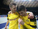 16.03.2019, OLympiastadion, Berlin, GER, DFL, 1.FBL, Hertha BSC VS. Borussia Dortmund, <br /> DFL  regulations prohibit any use of photographs as image sequences and/or quasi-video<br /> <br /> im Bild Marco Reus (Borussia Dortmund #11), Christian Pulisic (Borussia Dortmund #22)<br /> <br />       <br /> Foto &copy; nordphoto / Engler
