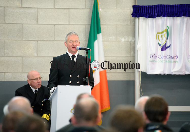 Mattie Shannon, Station Officer speaking at the official opening of the new Irish Coastguard Centre in Doolin. Photograph by John Kelly.