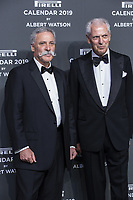 "Chase Carey, Marco Tronchetti Provera (Pirelli's President) attend the gala night for official presentation of the Presentation of the Pirelli Calendar 2019 ""The cal"" held at the Hangar Bicocca. Milan (Italy) on december 5, 2018. Credit: Action Press/MediaPunch ***FOR USA ONLY***"