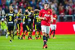 Solna 2013-08-06 Football Friendly Game , AIK - Manchester United FC :  <br /> Manchester United 20 Robin van Persie ser nedst&auml;md ut efter att AIK 15 Robin Quaison gjort 1-0<br /> (Foto: Kenta J&ouml;nsson) Nyckelord:  depp besviken besvikelse sorg ledsen deppig nedst&auml;md uppgiven sad disappointment disappointed dejected