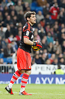 Real Madrid CF vs Athletic Club de Bilbao (5-1) at Santiago Bernabeu stadium. The picture shows Iker Casillas. November 17, 2012. (ALTERPHOTOS/Caro Marin) NortePhoto