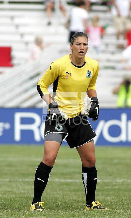 Hope Solo.Saint Louis Athletica defeated Sky Blue FC 1-0 at Anheuser-Busch Soccer Park, Fenton, Missouri.