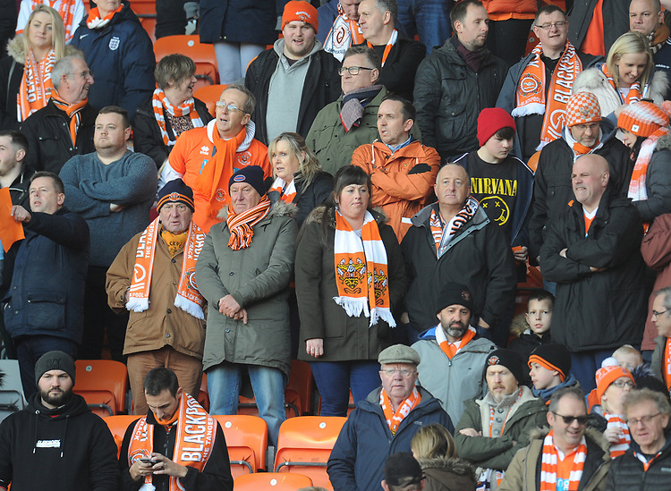 Blackpool fans enjoy the pre-match atmosphere <br /> <br /> Photographer Kevin Barnes/CameraSport<br /> <br /> The EFL Sky Bet League One - Blackpool v Southend United - Saturday 9th March 2019 - Bloomfield Road - Blackpool<br /> <br /> World Copyright © 2019 CameraSport. All rights reserved. 43 Linden Ave. Countesthorpe. Leicester. England. LE8 5PG - Tel: +44 (0) 116 277 4147 - admin@camerasport.com - www.camerasport.com