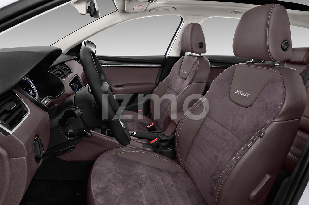 Front seat view of a 2017 Skoda Octavia Combi Scout 5 Door Wagon front seat car photos