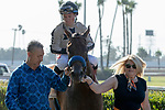 ARCADIA, CA  JULY 6: #2 Marley's Freedom, ridden by Drayden Van Dyke, returns to the connections after winning the Great Lady M Stakes (Grade ll) on July 6, 2019 at Los Alamitos Race Course, in Cerritos, CA. (Photo by Casey Phillips/Eclipse Sportswire/CSM)